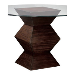 Sterling Industries - Sterling Industries 6043240 Hohner Table Base Zebrano - This Beautiful Accordion Like Base Is Finished In Zebrano Tone And Is Perfect As A Table Or Alone As A Sculpture Pedestal.  Dining Table (1)