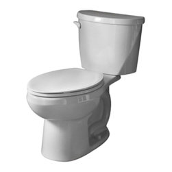 "American Standard - American Standard 2427.012.020 Evolution 2 Elongated Toilet, White - American Standard 2427.012.020 Evolution 2 Elongated Toilet, White. This elongated toilet features a 12"" Rough-in, a siphon action bowl with a direct fed jet and excellent rim wash, a fully-glazed 2"" trapway, a 2"" flapper flush valve, a pilot valve for water control, a sanitary bar on the bowl, a closed-coupled tank with a flat tank lid, and 2 color matched bolt caps."