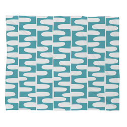 DENY Designs - Heather Dutton Hopscotch Pond Fleece Throw Blanket - This DENY fleece throw blanket may be the softest blanket ever! And we're not being overly dramatic here. In addition to being incredibly snuggly with it's plush fleece material, it's maching washable with no image fading. Plus, it comes in three different sizes: 80x60 (big enough for two), 60x50 (the fan favorite) and the 40x30. With all of these great features, we've found the perfect fleece blanket and an original gift! Full color front with white back. Custom printed in the USA for every order.