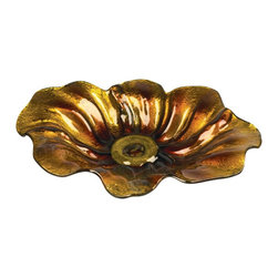 Sterling Industries - Sterling Industries Flourishing Dish X-1118-15 - This Sterling Industries flourishing dish is designed to draw the eye in with little effort. The petals flow organically around the center, with varied and shimmering metallic colors to accentuate every curl and every curve of this inspired glass dish.