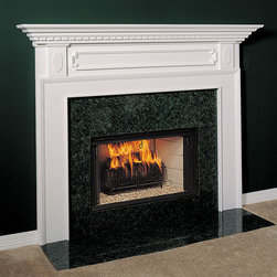 Harrisburg Wood Fireplace Mantel - A classic wood fireplace, the Harrisburg is pure American styling. Available in four wood choices and a number of finishes, make your living room shine with this beautiful hearth.