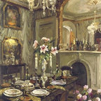 The Dining Room By: Foxwell 50 x 38 Art Print - The Dining Room By: Foxwell Total Size: 50 x 38 Image Size: 48 x 36 Inches. Amazing art print poster.