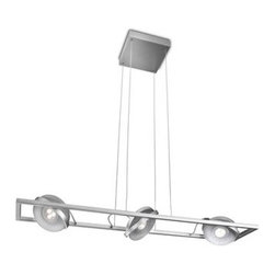 Philips - Philips 53159 Ledino 3 Light LED Pendant - Philips 53159 Ledino 3 Light LED PendantFlying disk in the sky! This stylish brushed nickel pendant features 3 LED spot heads that are fully directional for light where you need it most.Philips 53159 Features: