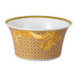 Versace - Versace Byzantine Dreams Open Vegetable Bowl Medium - Versace Byzantine Dreams Open Vegetable Bowl Medium   ***   Since the late 1970s the Versace brand has been synonymous with Italian luxury. For over 30 years their products have been known for uncompromising design as well as their sensual style and peerless craftsmanship. Many of our Versace Italian dinnerware sets are adorned with the famous medusa logo and offer a touch of Italian fashion and luxury to any meal. Shop our selection today to find a new porcelain dinner service that's sure to impress even the most persnickety guest.