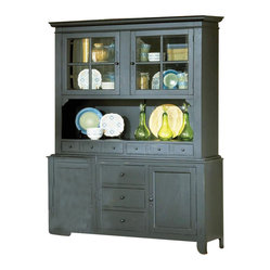 Steve Silver Sommerset Dining Buffet w/ Hutch in Antique Black