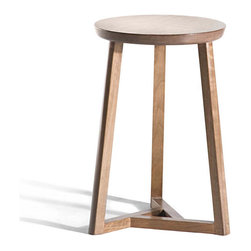 Gingko - Oslo 3 Legs Stool, Natural - Hand crafted from solid walnut using traditional carpentry techniques. Slight variations should be expected.