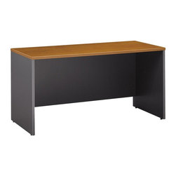 "BBF - BBF Series C 60W Credenza Shell - BBF - Computer Desks - WC72461 - Adaptable to your needs the BBF Series C 60""W Credenza Shell can be used as a standalone work space or with other Series C pieces to create a larger workspace or add storage. Configure with the 60""W Hutch or use as a left/right desk return the possibilities are endless with the 60""W Credenza Shell. Spacious enough to add Mobile Pedestals the Credenza Shell also accepts Keyboard Trays for convenience. Fully equipped for electronics featuring management grommets to hide unsightly wires. Solid construction meets ANSI/BIFMA test standards in place at time of manufacture; this product is American Made and is backed by BBF 10-Year Warranty."
