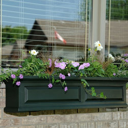 Mayne 48-Inch Rectangle Polyethylene Nantucket Window Box - Window boxes are such cool and underutilized things. I'd love to see summer wildflowers spilling out of this one.