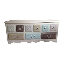 Pre-owned Tranquil Seaside Coffee Table or Chest - Coffee table, entry bench or blanket chest with loads of storage. Sanded, primed, painted & polyurethane applied. Distressing added for extra vintage charm!