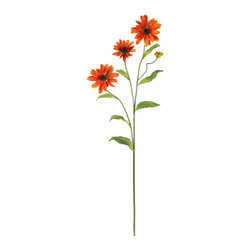 Nearly Natural - 28.5 in. Cosmo Stem - Set of 12 - Stems curve and branch out spider-like. Blooms that burst forth with color. A perfect give for that special someone. Construction Material: Polyester material, Iron wire. 9 in. W x 7 in. D x 28.5 in. H ( 2 lbs. )What an interesting flower we have here: the cosmos stem is appealing to the eye for several reasons. First, it has interesting stems that curve and branch in a spider-like manner. Then, these stems are adorned with leafy greens, and full blooms that burst with color. Available in several hues, this Cosmos stem makes the perfect gift for that special someone who appreciates unique beauty.