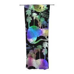 """Kess InHouse - Gabriela Fuente """"California Dream"""" Rainbow Abstract Decorative Sheer Curtain - Let the light in with these sheer artistic curtains. Showcase your style with thousands of pieces of art to choose from. Spruce up your living room, bedroom, dining room, or even use as a room divider. These polyester sheer curtains are 30"""" x 84"""" and sold individually for mixing & matching of styles. Brighten your indoor decor with these transparent accent curtains."""