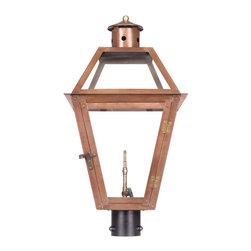 ELK - Elk Lighting 7934-WP Outdoor Gas Post Lantern Grande Isle Collection - Outdoor Gas Post Lantern Grande Isle Collection In Solid Brass With AnAged CopperFinish.