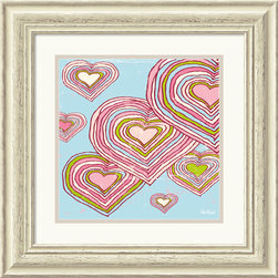 "Amanti Art - Hearts in Dreamland Framed Print by Peter Horjus - ""Wherever you go, go with all your heart"" - Confucius"