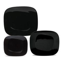 Oxford Porcelains - Karim Rashid Collection Black Dinner set with 12pc - The set includes 4 Dessert plates, 4 Soup plates and 4 Dinner plates