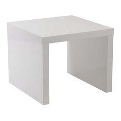 Eurostyle - Eurostyle Abby Square Side Table in White - Square Side Table in White belongs to Abby Collection by Eurostyle Form and function in perfect harmony. All of the Abby Tables are made of a unique, lightweight wooden honeycomb material, giving you the durability you require, along with an easy approach to re-arranging a room to suit the function. In gray or white lacquer. End Table (1)