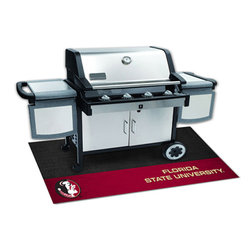 Fan Mats - Florida State University Grill Rectangular: 3 Ft. 5 In. x 2 Ft. 1 In. Mat - - Protect your deck or patio while displaying your favorite team! These 100% Vinyl Grill Mats are a universal fit to most grills, prevents spills from soaking in and staining, and cleans up easily with a garden hose. Fan Mats - 12105