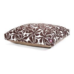 MAJESTIC PET PRODUCTS - Plantation Rectangle Pet Bed - This stylish rectangular pet bed looks great in any room of your house and is filled with ultra-plush fiberfill for luxurious napping. The removable zippered slipcover is made from outdoor-treated, UV-protected polyester for durability, and the base is made from heavy-duty waterproof 300/600 denier fabric that can go inside or out. Spot clean the slipcover and hang dry. Comes in a variety of colors and patterns, so you can pick the one that complements your decor.