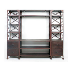 Go Home - Factory Entertainment Center - Our Vintage Industrial Collection is the definition of ...