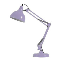 Eurostyle - Eurostyle Lalla Desk Lamp w/ Adjustable Height in Purple - Desk Lamp w/ Adjustable Height in Purple belongs to Lalla Collection by Eurostyle The attractive modern style of the Lalla Lamp makes it the perfect lighting solution for your office, bedroom and more! This desk lamp has three joints, allowing it to shine it's light at any angle. Dimensions: 28.5'' x 8'' x 8 Some assembly may be required. Please see product details. Lamp (1)