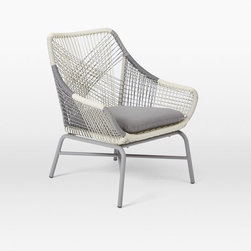 Huron Small Lounge Chair + Cushion, Gray/Seal - Outdoor dining chairs that are actually designed beautifully are few and far between. I want to have one of these at the head of my outdoor dining table.