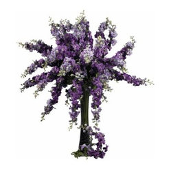 38.5-in. Set of 12 Delphinium Stems
