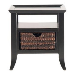 Liberty Furniture - Liberty Furniture 915 Occasional 27x23 Rectangular End Table in Black, Dark Wood - 915 Occasional 27x23 Rectangular End Table in Black, Dark Wood is a part of 915 Occasional Collection by Liberty Furniture What's included: End Table (1).