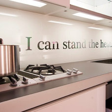 Various Kitchen Backsplash Ideas: Inspiratif Graphic Wall Qoute Kitchen Backspla