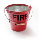 Suck Uk - Fire Bucket BBQ - Where's the fire? In your bucket of course. This enameled metal bucket is actually a portable barbeque grill, making it easy to tailgate anywhere you go.