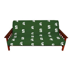 None - Michigan State University Full-size Futon Cover - Calling all Michigan State fans! Get your groove on with this full-size Spartan futon cover. Made of 100 percent cotton,it fits most any full-size futon and is as sturdy as it is soft. It is truly a must-have accessory for any diehard fan.