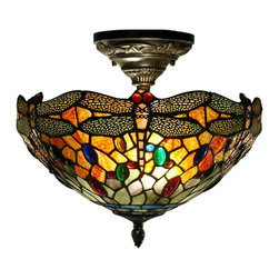 Dale Tiffany - New Dale Tiffany Ceiling Fixture Brass Metal - Product Details