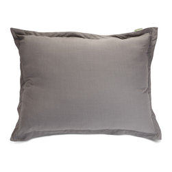 Majestic Home - Indoor Gray Wales Floor Pillow - Don't let a standing-room-only crowd cramp your style. This floor pillow fills in just fine and looks great in your favorite modern setting. Bonus? The linen blend slipcover zips off for easy cleaning.