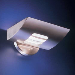 Estiluz - Estiluz   A-1149 Wall Sconce - Design by Leonardo Marelli.Imported from Spain, by Estiluz.Low profile halogen wall sconce that provides both direct and indirect light.