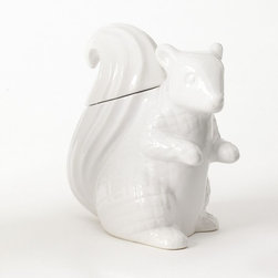Squirrel Cookie Jar - Got cookies? This can be used to store your favorite treats or just to liven up your counter.