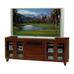 "Furnitech - 70"" Shaker Style TV Media Console - 70"" Shaker Style TV Media Console for Flat Screens and Audio Video Installations"