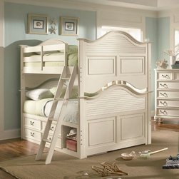 Lea Children's Furniture - Retreat in Antique White Bunk Bed - Retreat in Antique White Bunk Bed
