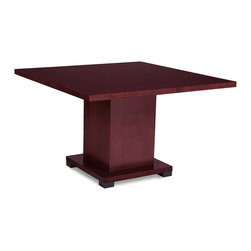 Zuri Furniture - Ford Executive Conference Table in Mahogany - Need a small, cozy, classic setting for your next business deal? The Ford contemporary conference table exhibits all the best in class offering an affordable, contemporary solution for any modern meeting space. Beautiful Mahogany grain finish. Seats 4 comfortably.