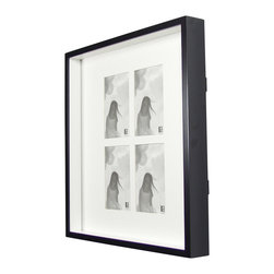 "Boom - Two-Tone Frame (4), 4"" x 6"" - This classic frame offers four openings for a selection of photos. You could add a series here (perhaps someone special blowing out birthday candles?), or leave a space for each of your four favorite people."