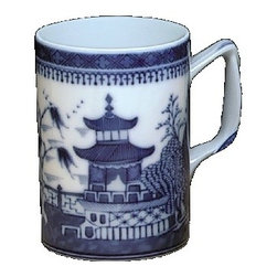 "Mottahedeh - Mottahedeh | Blue Canton Mug S/4 - Blue Canton by Mottahedeh The most fashionable tables in the early American Republic were set with blue and white ""Canton"" ware, so called for the great Chinese trading port from which it came. Chinese blue and white porcelain was in demand well into the 19th century and has been part of the heritage of many American families. Blue Canton from Mottahedeh faithfully recaptures this centuries-old tradition and style."