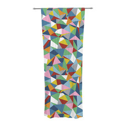"""Kess InHouse - Project M """"Abstraction"""" Rainbow Abstract Decorative Sheer Curtain - Let the light in with these sheer artistic curtains. Showcase your style with thousands of pieces of art to choose from. Spruce up your living room, bedroom, dining room, or even use as a room divider. These polyester sheer curtains are 30"""" x 84"""" and sold individually for mixing & matching of styles. Brighten your indoor decor with these transparent accent curtains."""