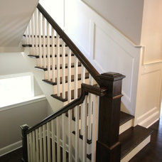Beach Style Staircase by Matthies Builders