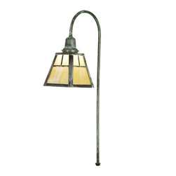 Meyda Lighting - Meyda Lighting Mission Shepherd's Hook Landscape Fixture - The Double Bar Mission Has A Pair Arts And Crafts Style Crossed Bars That Accent This Handsome American Craftsman Landscape Fixture. The Fixture, Handcrafted In The USA By Meyda Artisans, Is