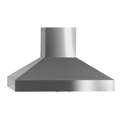 "Imperial - Imperial WHP1936BP1 36; Wall Range Hood - Imperial WHP1936BP1-SS Wall Range Hood 625 CFM, stainless steel; white or black powder coat and aluminum mesh screen. Single 7  (3-1/4   x 10   to 7   round) Duct12"" inch high / 20-1/8"" inch depth (front/back). Front panel requires two 50 watt halogen lights (PAR 20)115 AC, 60 HZ, 9 Amps Suggested use with 15 Amp Circuitsingle blower independent control of variable fan speed and lighting intensity1.6 (low) - 4.6 (high) Sones625 (CFM)"