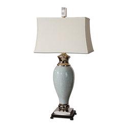 Uttermost - Uttermost 26783 Rossa Crackled Light Blue Ceramic Finish Table Lamp - Uttermost 26783 Rossa Crackled Light Blue Ceramic Finish Table Lamp