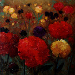 """""""Wild Flowers"""" (Original) By Kanayo Ede - Oil On Textured Canvas. Gallery Wrap, Sides Painted. Ready To Hang Right Out Of The Box Or Could Be Framed (Optional)."""