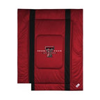 Sports Coverage - Texas Tech Bedding - NCAA Sidelines Comforter - Full - Show your team spirit with this great looking officially licensed Texas Tech comforter which comes in new design with sidelines. This comforter is made from 100% Polyester Jersey Mesh - just like what the players wear. The fill is 100% Polyester batting for warmth and comfort. Featuring authentic Texas Tech team colors, each comforter has the authentic Texas Tech logo screen printed in the center. Soft but durable. Machine washable in cold water. Tumble dry in low heat. Covers are 100% Polyester Jersey top side and Poly/Cotton bottom side. Each comforter has the team logo centered on solid background in team colors. 5.5 oz. Bonded polyester batts. Looks and feels like a real jersey!