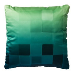 Room Essentials Geometric Ombré Toss Pillow, Blue - Geometry and ombré? This pillow could really command attention in a neutral-toned room.