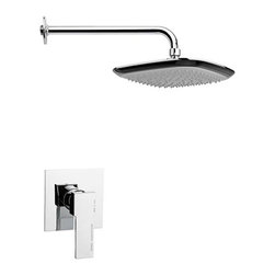 Nameeks - Nameeks   Mario Shower Set SS1228 - Made in Italy. A part of Remer by Nameek's.The all-inclusive Mario Shower Set SS1228 is perfect for bathrooms in need of a shower upgrade. Complete with an overhead shower head, shower arm, and pressure balance with ceramic cartridge. Its head and arm are made from brass and ABS to offer durability. Control the water temperature and flow with the easy to use pressure balance trim with rough-in included. Product Features: