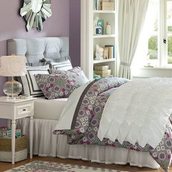 Rufflicious Quilt + Sham, White - Row after row of sweet, chic ruffles make this cozy quilt a fresh style statement. Made of soft, smooth white cotton percale, each ruffle is carefully sewn to create rich texture.