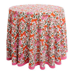 Round Tablecloth Fantasia - I've got a burlap tablecloth on the table in my dining nook, and while the neutral background is just fine, sometimes I crave a little color. If only I had this vibrantly patterned version to switch  out for when the mood strikes. I think I would keep it on through spring and summer. And maybe even fall.