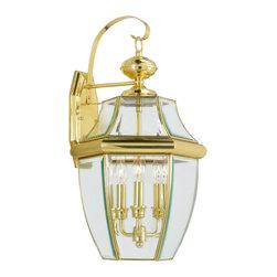 Livex Lighting - Livex Lighting 2351-02 Monterey Wall Light Polished Brass - -Finish: Polished Brass